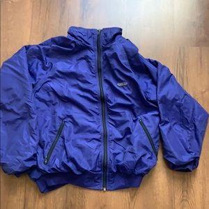 Patagonia XL womens usa vintage blue purple jacket
